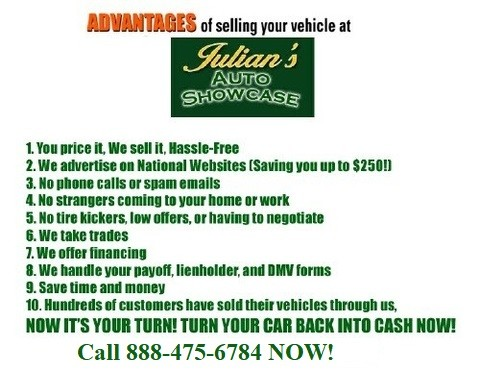 Julians Auto Showcase >> Julians Auto Showcase Consignment Department- New Port Richey FL - Consignment