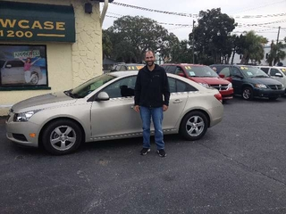 Andrew Kunkel and his 2013 Chevy Cruze